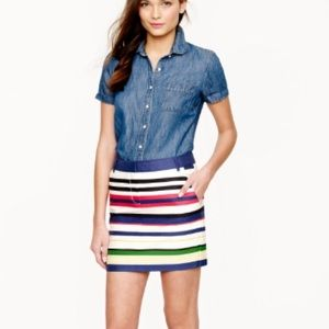J. CREW Multistripe Mini Skirt